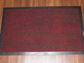 NON SLIP DOORMAT 50X80CM RUBBER BACKING GOOD QUALITY ALL COLOURS RED BARGAINS